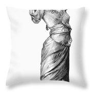 Harem Woman, 19th Century Throw Pillow