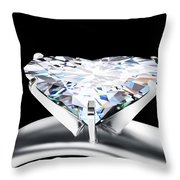 Heart Diamond Throw Pillow by Setsiri Silapasuwanchai