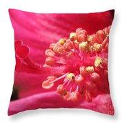 Hibiscus Named Luna Rose Throw Pillow