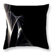 High Speed Strobe Image Of Pin Dropping Throw Pillow