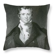 Humphry Davy, English Chemist Throw Pillow