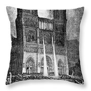 Hunchback Of Notre Dame Throw Pillow