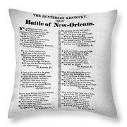 Hunters Of Kentucky, 1815 Throw Pillow