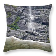 Ice Caves Throw Pillow