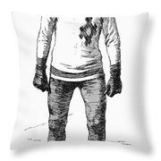 Ice Skater, 1880 Throw Pillow