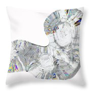 Icicle Cross Section Throw Pillow