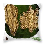 Illustration Of Cork Wood Cells Throw Pillow