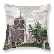 Independence Hall, 1799 Throw Pillow