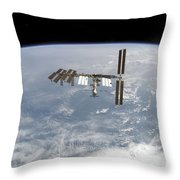 International Space Station Throw Pillow