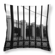 Iron And Pillars Throw Pillow