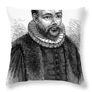 Jacobus Arminius (1560-1609) Throw Pillow