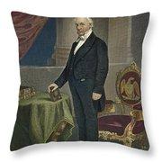 James Buchanan (1791-1868) Throw Pillow