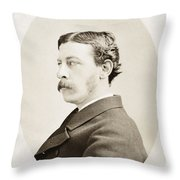 James Gordon Bennett, Jr Throw Pillow