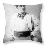 James J. Corbett Throw Pillow
