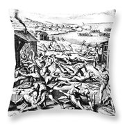 Jamestown: Massacre, 1622 Throw Pillow