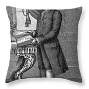 Jean Jacques Rousseau Throw Pillow by Granger