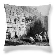 Jerusalem: Wailing Wall Throw Pillow