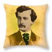 John Wilkes Booth, American Assassin Throw Pillow