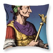 Julius Caesar, Roman General Throw Pillow