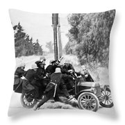 Keystone Kops Throw Pillow