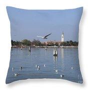 Lagoon. Venice Throw Pillow