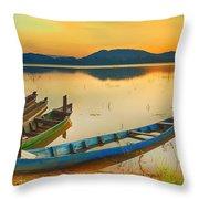 Lak Lake Throw Pillow