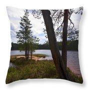 Lake Huosius At Hossa Throw Pillow