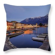 Lake Maggiore - Ascona Throw Pillow