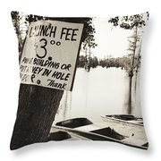 Launch Fee - Sepia Toned Throw Pillow