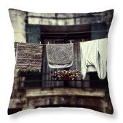 Laundry Throw Pillow by Joana Kruse