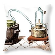 Lavoisiers Apparatus To Study Air Throw Pillow