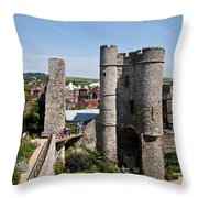 Lewes Castle Throw Pillow