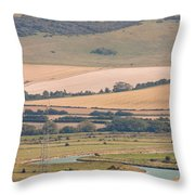 Lewes East Sussex Throw Pillow