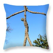 Lift Photographed Outside Throw Pillow