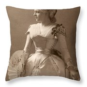 Lillie Langtry (1852-1929) Throw Pillow