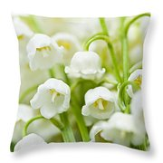 Lily-of-the-valley Flowers Throw Pillow