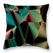 Liquid Crystalline Dna Throw Pillow