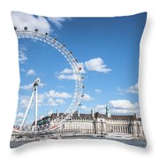 London Eye And County Hall Throw Pillow