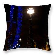 London Eye Night View Throw Pillow