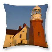 Long Point Lighthouse, Twillingate Throw Pillow