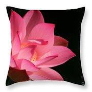 Lotus Diva Throw Pillow