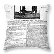 Louis Xvi: Execution, 1793 Throw Pillow
