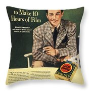 Lucky Strike Cigarette Ad Throw Pillow