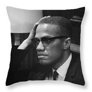 Malcolm X (1925-1965) Throw Pillow