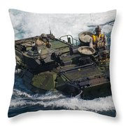 Marines Navigate An Amphibious Assault Throw Pillow