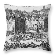 Massacre Of Huguenots Throw Pillow