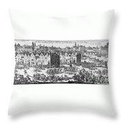 Massacre Of Huguenots Throw Pillow