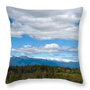 Massive Cloudy Sky Above The Wilderness  Throw Pillow