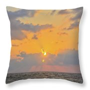 Mediterranean Sunset Throw Pillow