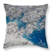 Meltwater Lakes On Hubbard Glacier Throw Pillow
